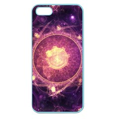 A Gold And Royal Purple Fractal Map Of The Stars Apple Seamless Iphone 5 Case (color) by beautifulfractals