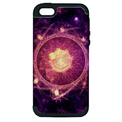 A Gold And Royal Purple Fractal Map Of The Stars Apple Iphone 5 Hardshell Case (pc+silicone) by beautifulfractals