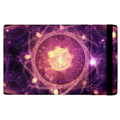 A Gold And Royal Purple Fractal Map Of The Stars Apple Ipad 2 Flip Case by beautifulfractals