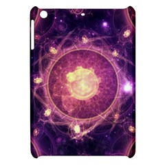 A Gold And Royal Purple Fractal Map Of The Stars Apple Ipad Mini Hardshell Case by beautifulfractals