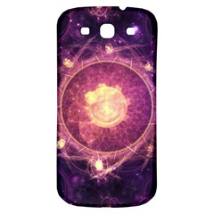 A Gold And Royal Purple Fractal Map Of The Stars Samsung Galaxy S3 S Iii Classic Hardshell Back Case by beautifulfractals