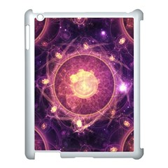 A Gold And Royal Purple Fractal Map Of The Stars Apple Ipad 3/4 Case (white) by beautifulfractals