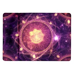A Gold And Royal Purple Fractal Map Of The Stars Samsung Galaxy Tab 10 1  P7500 Flip Case by beautifulfractals