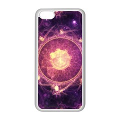 A Gold And Royal Purple Fractal Map Of The Stars Apple Iphone 5c Seamless Case (white) by beautifulfractals