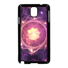 A Gold And Royal Purple Fractal Map Of The Stars Samsung Galaxy Note 3 Neo Hardshell Case (black) by jayaprime