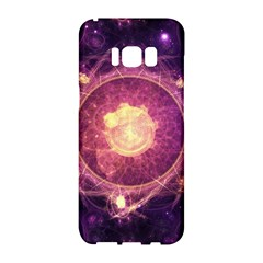 A Gold And Royal Purple Fractal Map Of The Stars Samsung Galaxy S8 Hardshell Case  by beautifulfractals