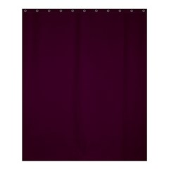 Black Cherry Solid Color Shower Curtain 60  X 72  (medium)  by SimplyColor
