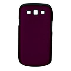 Black Cherry Solid Color Samsung Galaxy S Iii Classic Hardshell Case (pc+silicone) by SimplyColor