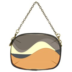 Wave Chevron Waves Material Chain Purses (two Sides)  by Mariart