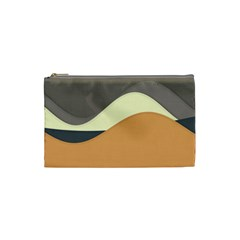 Wave Chevron Waves Material Cosmetic Bag (small)  by Mariart