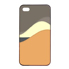 Wave Chevron Waves Material Apple Iphone 4/4s Seamless Case (black) by Mariart