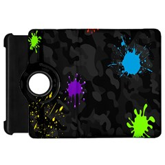 Black Camo Shot Spot Paint Kindle Fire Hd 7  by Mariart