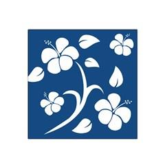 Blue Hawaiian Flower Floral Satin Bandana Scarf by Mariart