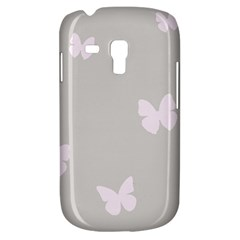 Butterfly Silhouette Organic Prints Linen Metallic Synthetic Wall Pink Galaxy S3 Mini by Mariart