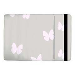 Butterfly Silhouette Organic Prints Linen Metallic Synthetic Wall Pink Samsung Galaxy Tab Pro 10 1  Flip Case by Mariart