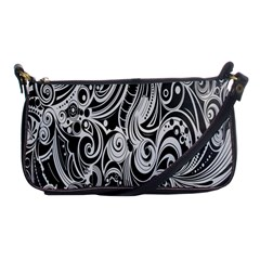 Black White Shape Shoulder Clutch Bags by Mariart