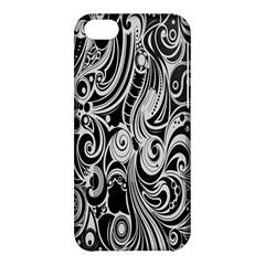 Black White Shape Apple Iphone 5c Hardshell Case by Mariart