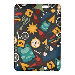 Compass Cypress Chair Arrow Wheel Star Mountain Kindle Fire Hdx 8 9  Hardshell Case by Mariart
