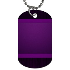 Board Purple Line Dog Tag (two Sides) by Mariart