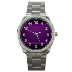 Board Purple Line Sport Metal Watch by Mariart