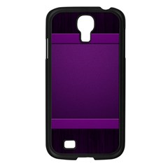 Board Purple Line Samsung Galaxy S4 I9500/ I9505 Case (black) by Mariart