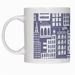 Building Citi Town Cityscape White Mugs by Mariart