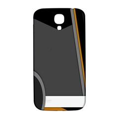 Flag Grey Orange Circle Polka Hole Space Samsung Galaxy S4 I9500/i9505  Hardshell Back Case by Mariart