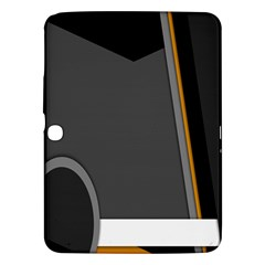Flag Grey Orange Circle Polka Hole Space Samsung Galaxy Tab 3 (10 1 ) P5200 Hardshell Case  by Mariart