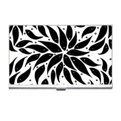 Flower Fish Black Swim Business Card Holders by Mariart