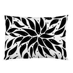 Flower Fish Black Swim Pillow Case by Mariart