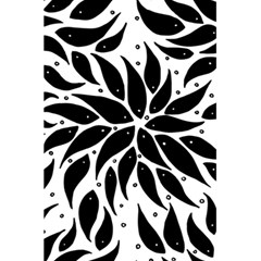 Flower Fish Black Swim 5 5  X 8 5  Notebooks by Mariart