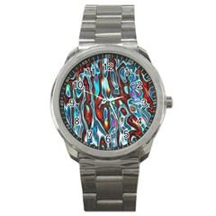 Dizzy Stone Wave Sport Metal Watch by Mariart