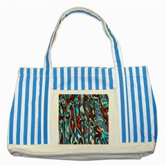 Dizzy Stone Wave Striped Blue Tote Bag by Mariart