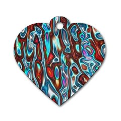 Dizzy Stone Wave Dog Tag Heart (one Side) by Mariart