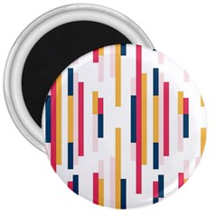 Geometric Line Vertical Rainbow 3  Magnets by Mariart