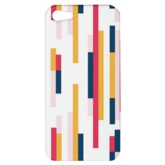 Geometric Line Vertical Rainbow Apple Iphone 5 Hardshell Case by Mariart