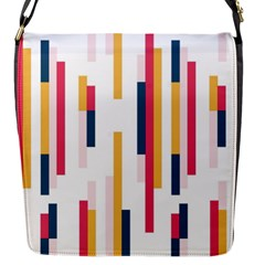 Geometric Line Vertical Rainbow Flap Messenger Bag (s) by Mariart