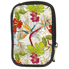 Flower Floral Red Green Tropical Compact Camera Cases by Mariart