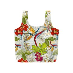 Flower Floral Red Green Tropical Full Print Recycle Bags (s)  by Mariart