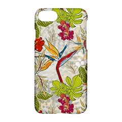 Flower Floral Red Green Tropical Apple Iphone 7 Hardshell Case by Mariart