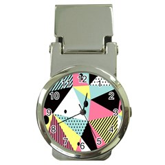 Geometric Polka Triangle Dots Line Money Clip Watches by Mariart