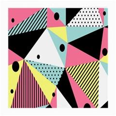 Geometric Polka Triangle Dots Line Medium Glasses Cloth (2 Side) by Mariart