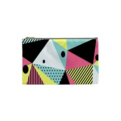 Geometric Polka Triangle Dots Line Cosmetic Bag (small)  by Mariart