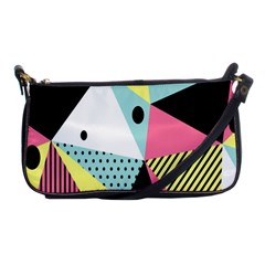 Geometric Polka Triangle Dots Line Shoulder Clutch Bags by Mariart