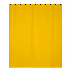 Amber Solid Color  Shower Curtain 60  X 72  (medium)  by SimplyColor