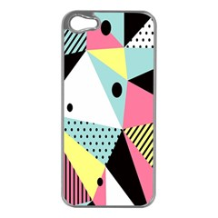 Geometric Polka Triangle Dots Line Apple Iphone 5 Case (silver) by Mariart