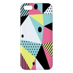 Geometric Polka Triangle Dots Line Apple Iphone 5 Premium Hardshell Case by Mariart