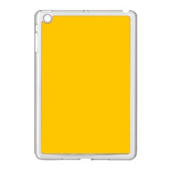 Amber Solid Color  Apple Ipad Mini Case (white) by SimplyColor