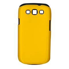 Amber Solid Color  Samsung Galaxy S Iii Classic Hardshell Case (pc+silicone) by SimplyColor