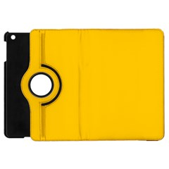 Amber Solid Color  Apple Ipad Mini Flip 360 Case by SimplyColor